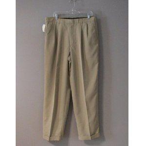 NWT Perry Ellis Portfolio Light Brown Pants 36x32